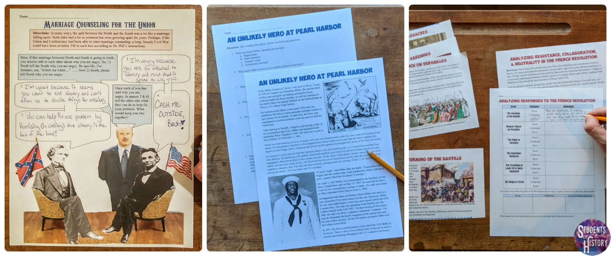 Social Studies Worksheets For Middle School