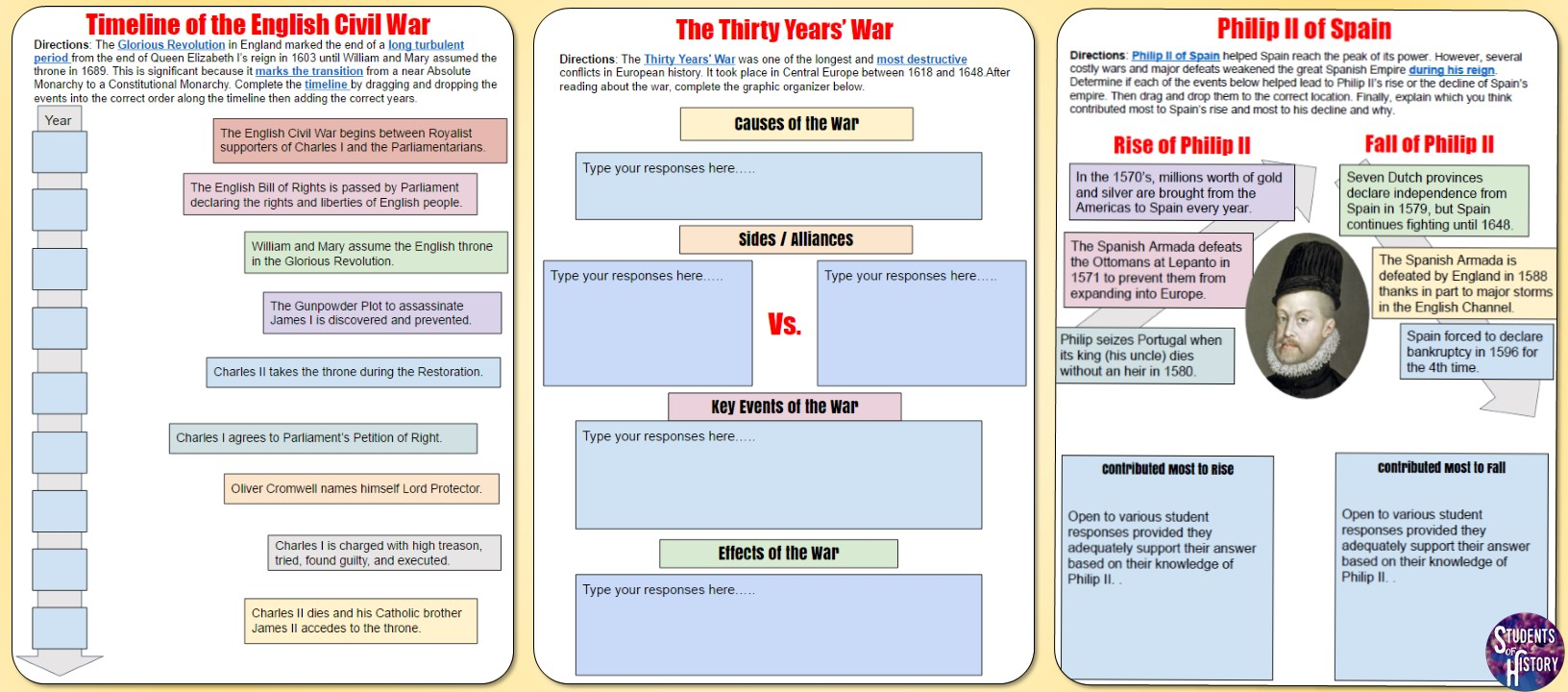 Absolute Monarchs PowerPoint, Activity, and Lesson Plan