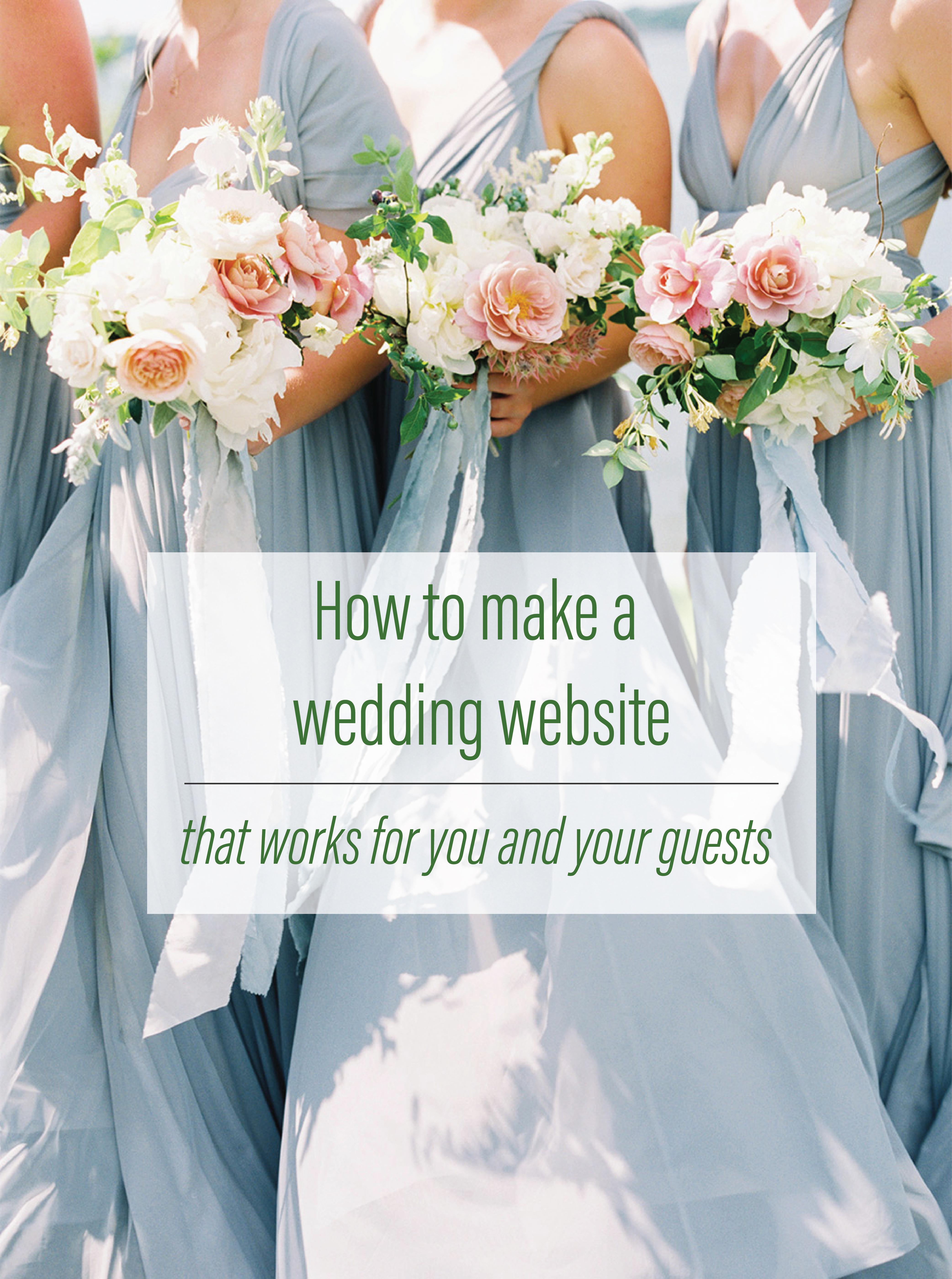 how to make a wedding website that works for you and your guests