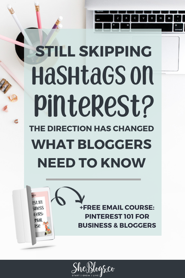 Bloggers can now use hashtags on Pinterest! Drive more traffic to your blog. #BloggingTips, #BloggingForBeginners, #PinterestMarketing