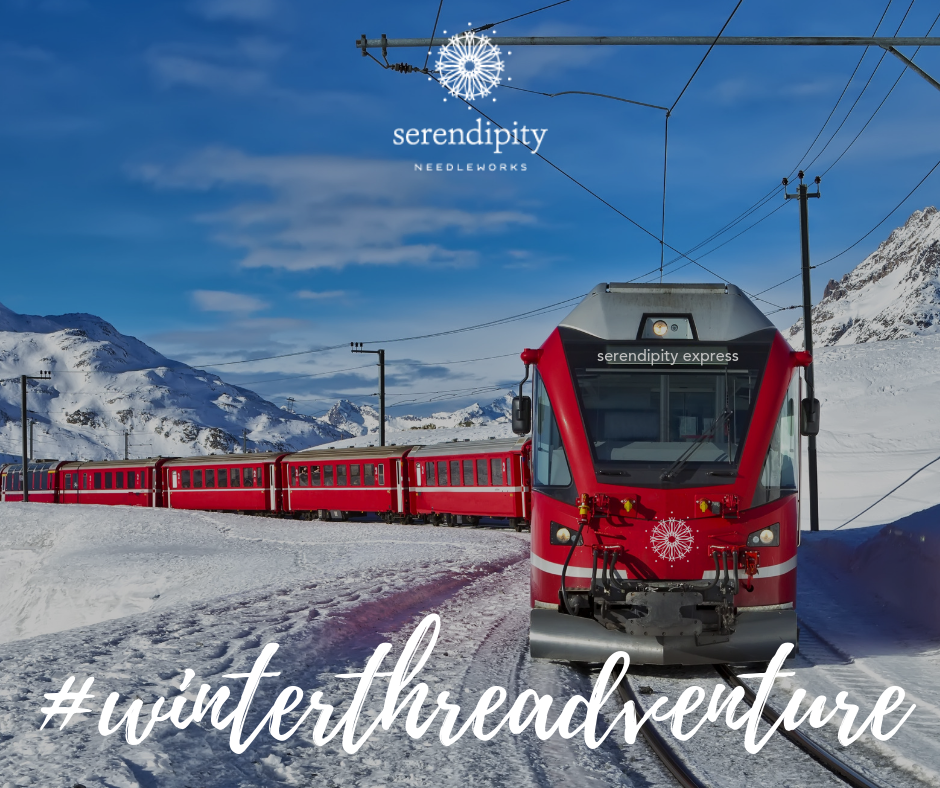 Hop aboard the Serendipity Express for the third stop on the 2019 Winter Threadventure!