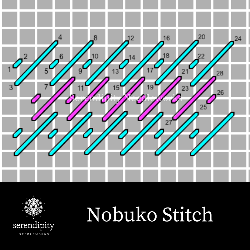 The Nobuko is a terrific option for snowy areas on your needlepoint projects.