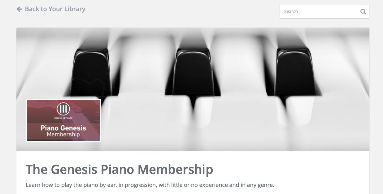 Piano Genesis Membership