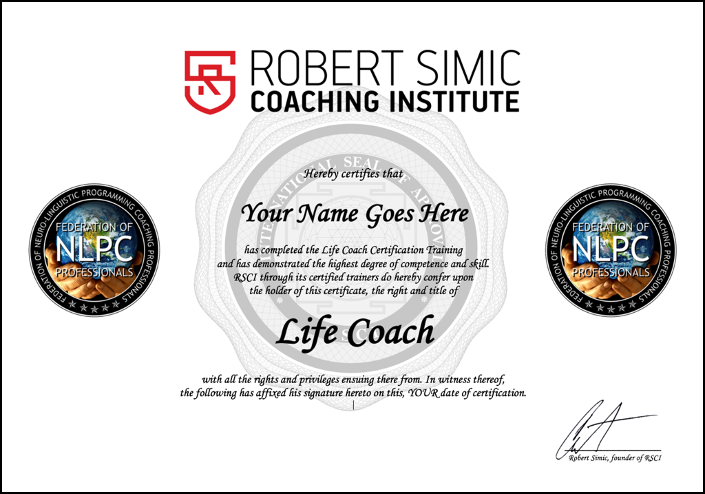 Life Coach Online Training And Certification Robert Simic Coaching