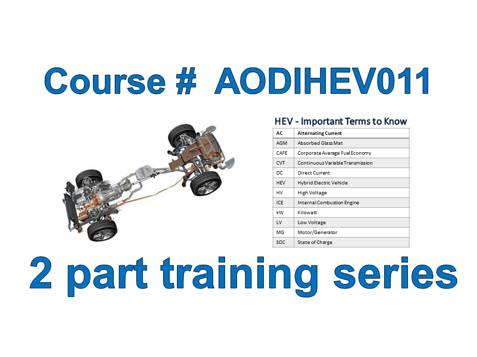 Introduction to Hybrid Electric Vehicle Systems Online Training