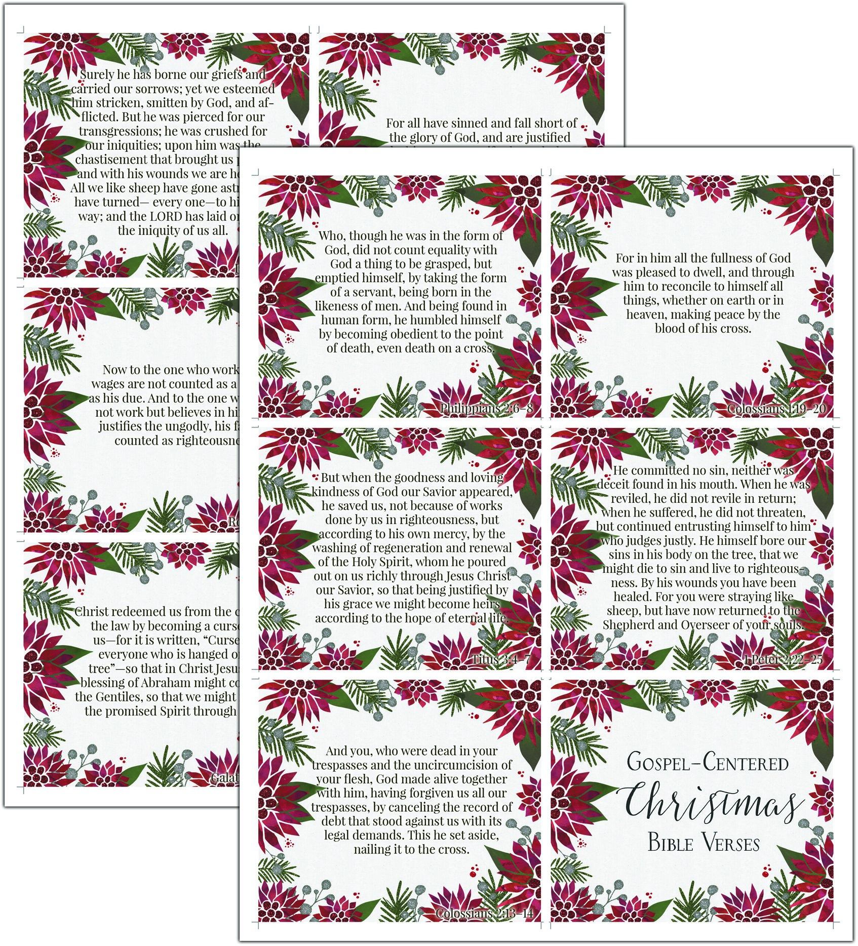 weve made it simple to do so with these christmas related bible verses all ready to print out on these beautiful cards - Christmas Verses For Cards