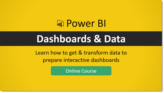 The Power Bi Dashboards Data Online Course