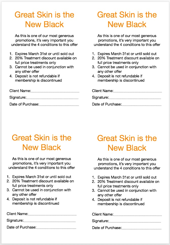 Great Skin Is The New Black Promotional Strategy