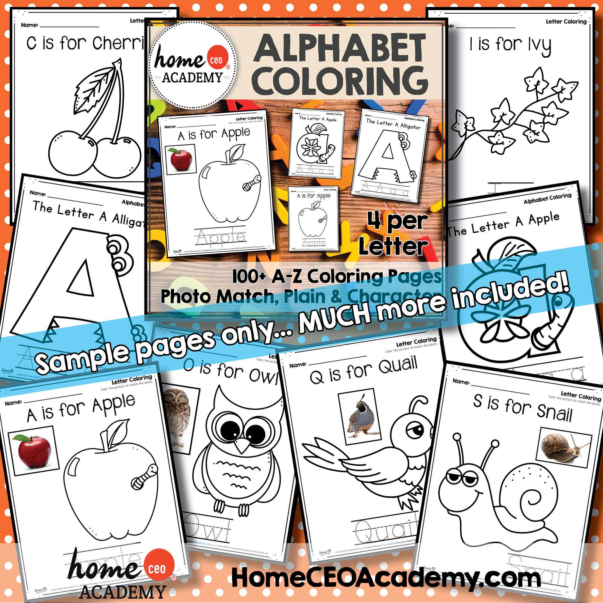 ALPHABET COLORING STYLES INCLUDED