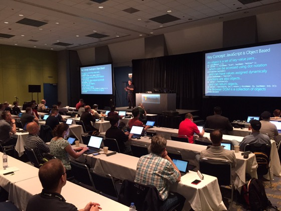 Delivering a full-day pre-conference workshop at the Microsoft Ignite 2015 conference