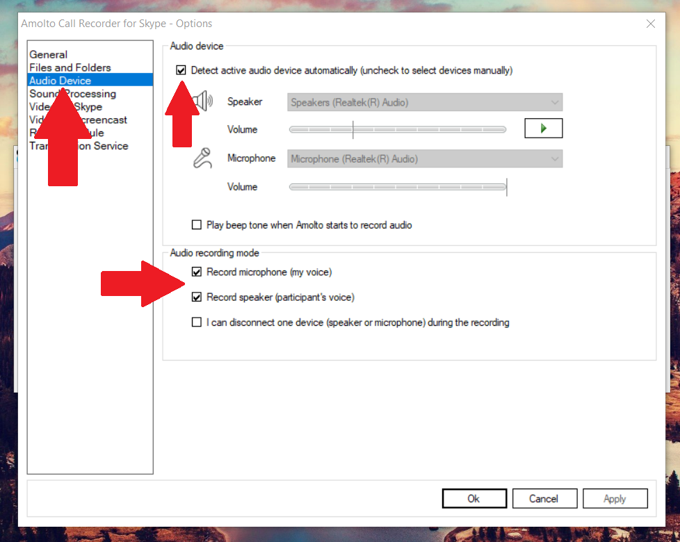 Setting Up Amolto Call Recorder for Skype