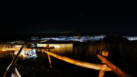 甲府の夜景と満天の星空が一望