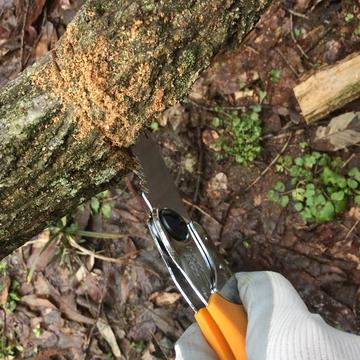 逆さにするときは刃の角度を変えると切りやすい