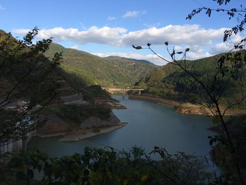 九谷ダム。ゴールは近い