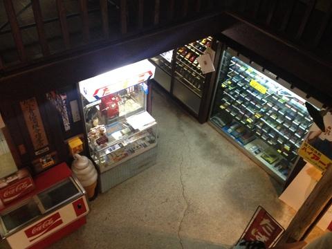 昭和の街が再現された展示コーナー