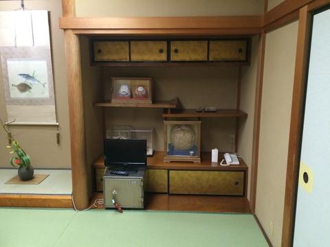 宿泊にも使われている個室