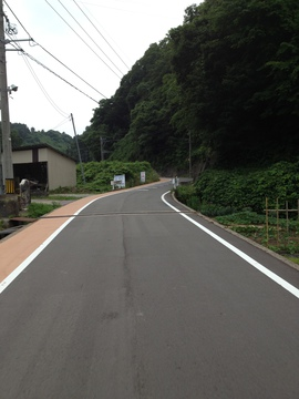 歩道が整備された卯辰山クライムロード