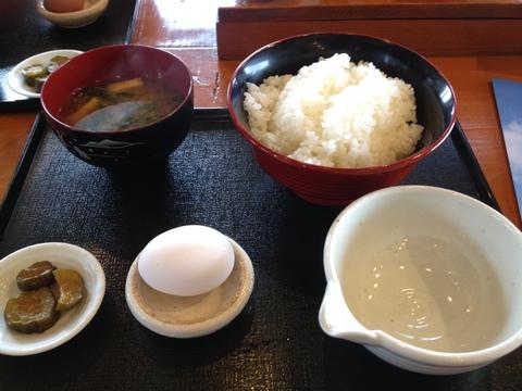卵かけご飯大420円(くりからハーブたまご)