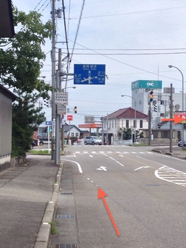 福光駅前県道27号をトレース