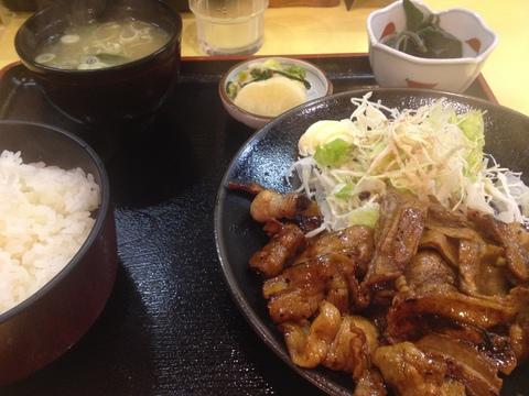 生姜焼き定食950円