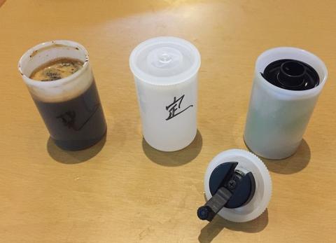 コーヒー現像液と定着液と自作ダークレス