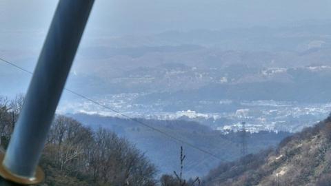金沢市街が見える