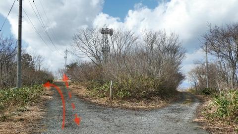 ここを左ですぐ左手に階段がある。真っ直ぐで仏舎利塔に寄り道