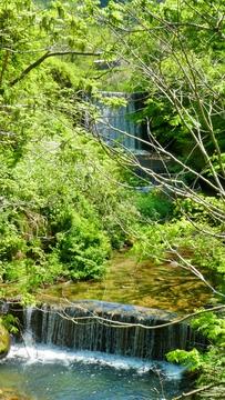 菱池谷橋(昭和47年11月架)から滝。浅野川源流
