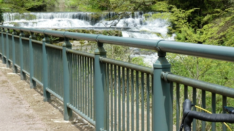 宮島峡一の滝が見えてきた