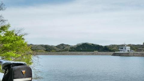 北側周遊路より、さっきの堤が見える