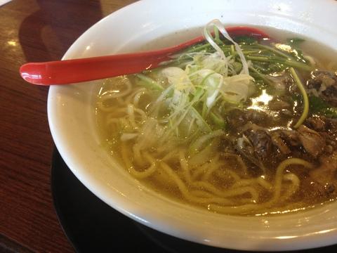 軍鶏麺塩730円