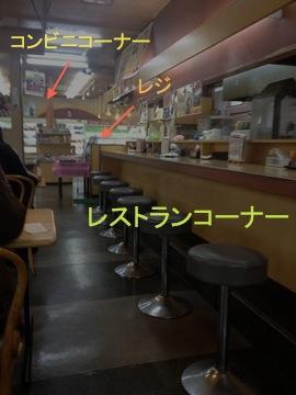 レストラン側とコンビニ側が別れている典型的なすしべんのつくり