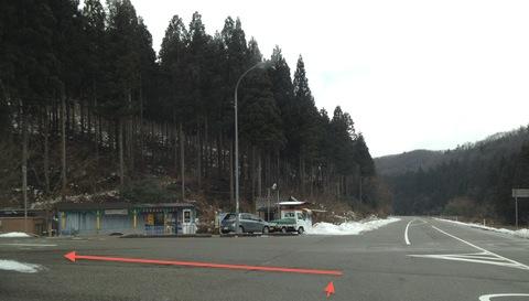 県道55号の大判焼き屋を曲がる