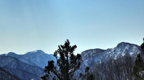 左から大門山赤摩木古山 右は水原挙原山