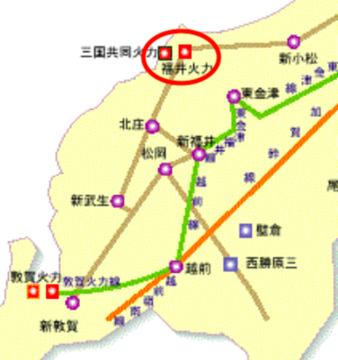 福井県電力系統図