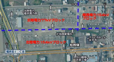 松岡変電所のブロック配置