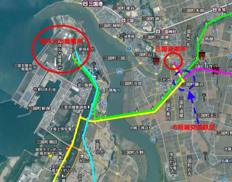 福井火力・三国変電所周辺接続図