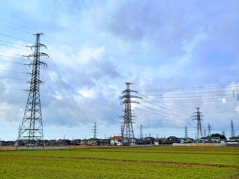 南金沢変電所からの鶴来第1線と第2線のトリッキーな接続