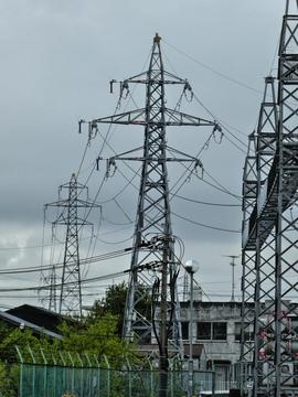 西武生変電所北側 西武生線最終鉄塔