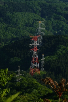 登山口にあったの鉄塔がミニチュアの様