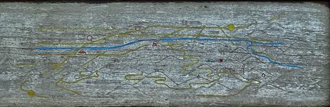夕霧峠ヒュッテの近くにある古い案内板(クリックで拡大)