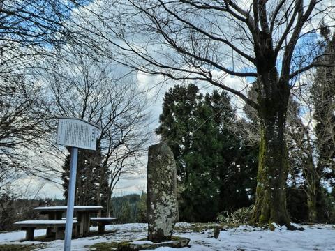 本丸跡(写真は残雪期)