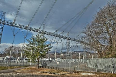 加賀変電所 東側500KV開閉所