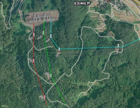 加賀変電所(東)接続図