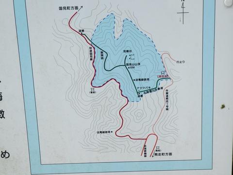 この案内板地図の道は国土地理院地図には出ていないので重要