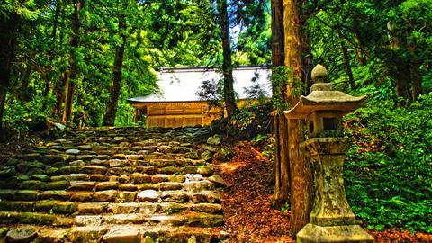 伊須流岐比古神社拝殿前