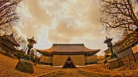 改修中勝興寺本堂
