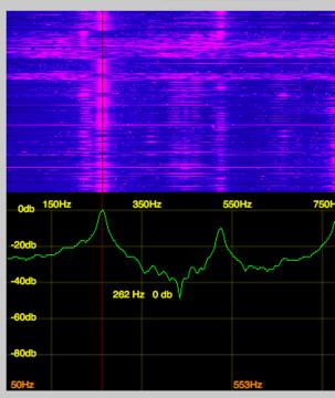 最低音Cの音でもボディの共振周波数よりは上