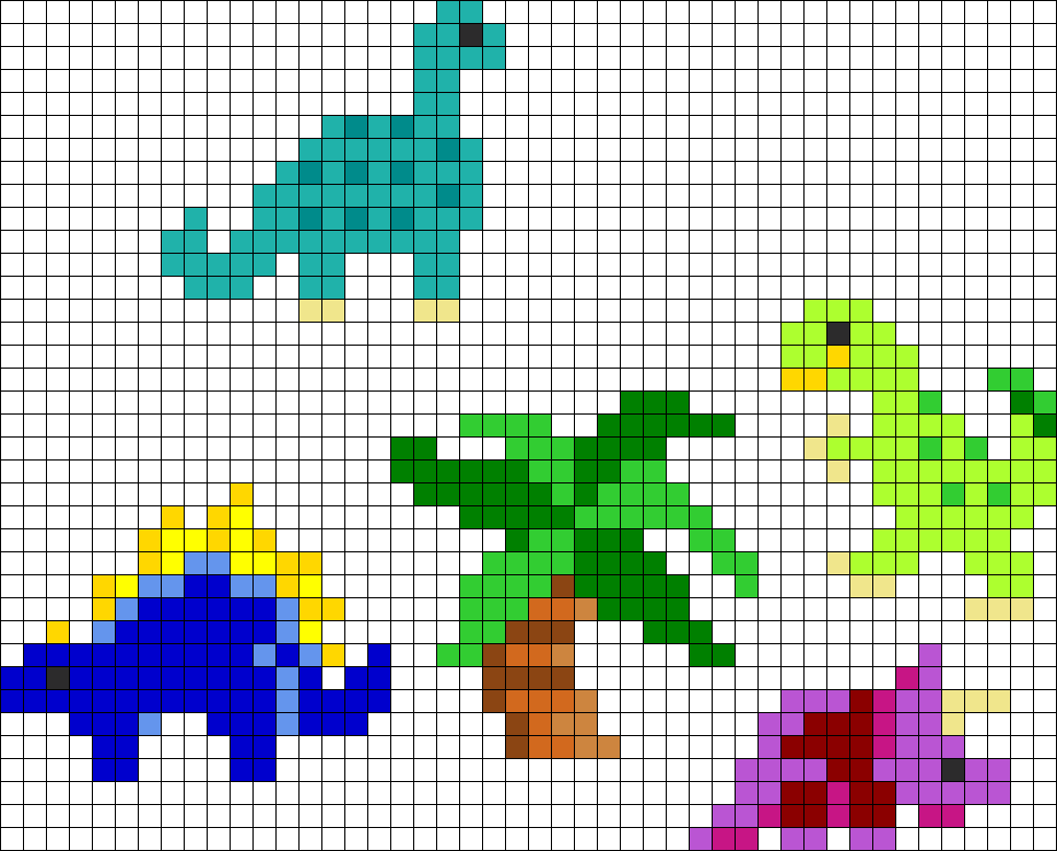 small perler bead patterns animals pictures to pin on