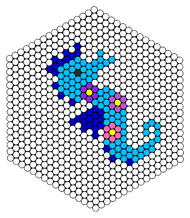 Seahorse perler bead pattern bead sprites animals fuse for Free beados templates